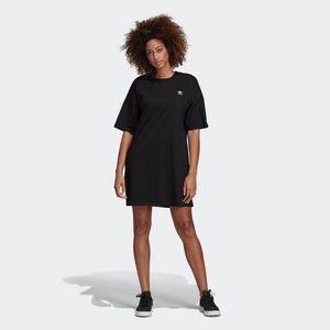 Adidas Originals Black Trefoil Shirt Dress